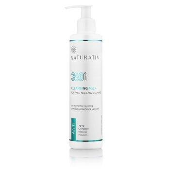 Naturativ, 360 AOX, mleczko do demakijażu do twarzy szyi i dekoltu, 250 ml-Naturativ
