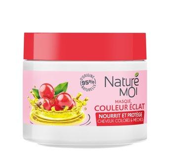 Nature Moi, maska do włosów farbowanych z Olejem z Pestek Winogron i Organiczną Czerwoną Porzeczką, 300 ml-Nature Moi