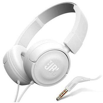 Nauszne słuchawki z mikrofonem JBL - Białe.-JBL