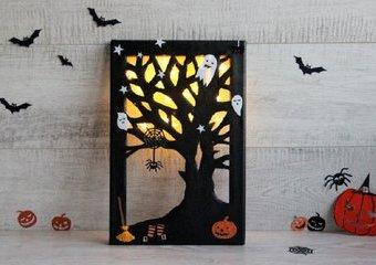 Nawiedzone drzewo - stwórz podświetlany obrazek na Halloween