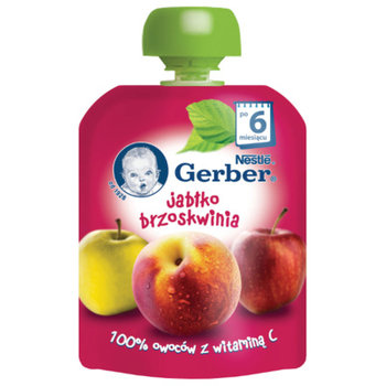 Nestle, Deserek w tubce pouche, jabłko-brzoskwinia, 6m+, 90 g-Nestle