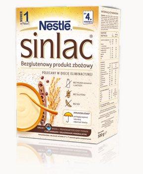 Nestle Sinlac, Bezglutenowy produkt zbożowy bez laktozy soi dla niemowląt po 4 miesiącu, 500 g-Nestle