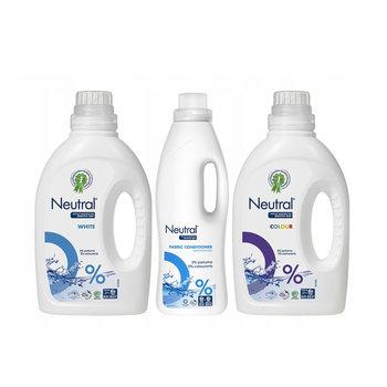 Neutral, Żel hipoalergiczny do prania kolorowego, 1 L, Płyn hipoalergiczny do prania białego, 1 L, Płyn do płukania, 1 L, zestaw-Unilever
