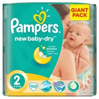 New Baby-Dry, Pieluszki jednorazowe, rozmiar 2, Mini, 100 szt., Pampers