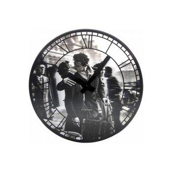 NEXTIME Zegar ścienny Kiss me in Paris, biały, czarny, 39x3,5 cm-Nextime