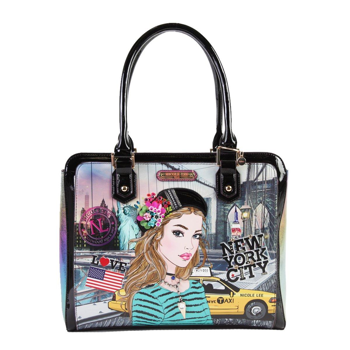 Nicole Lee, Torebka damska Briefcase Bag, Ivette Poses On Ny