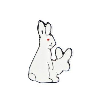 Niegrzeczne króliki przypinka-Pinets