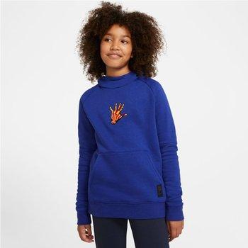 Nike, Bluza dziecięca, FC Barcelona Fleece Pullover Soccer Hoodie CN1000 455, niebieski, rozmiar M-Nike