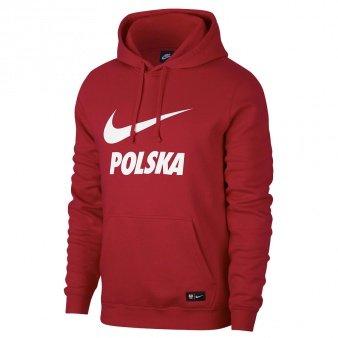 bluza nike hoodie dla chłopców kolor bordowy