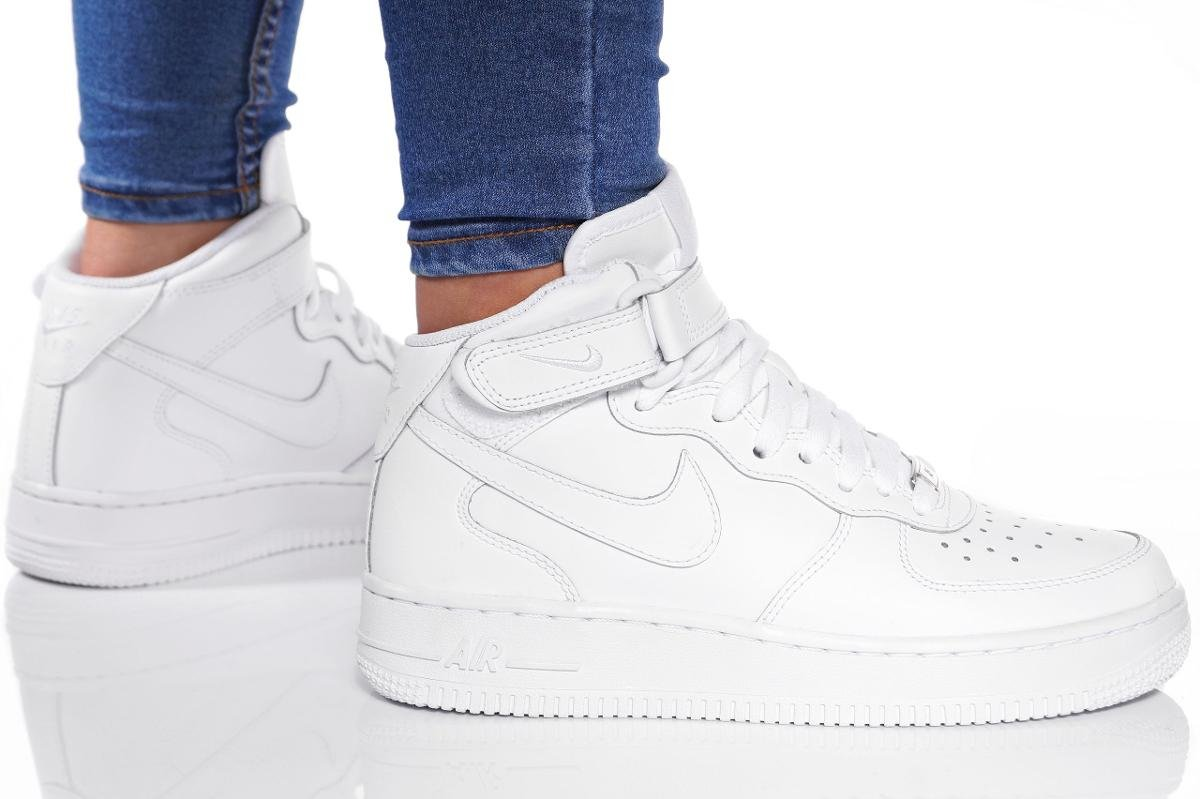 Dzieciece Nike Air Force 1 Mid (Gs) Bialy