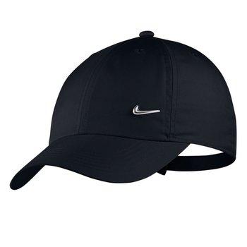 Nike, Czapka młodzieżowa, Y H86 CAP METAL SWOOSH AV8055 010, czarny-Nike