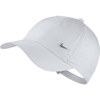 Nike, Czapka z daszkiem, Y NK H86 Cap Metal Swoosh AV8055 100, biały, rozmiar uniwersalny-Nike