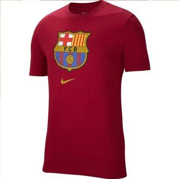 Nike, Koszulka męska, FC Barcelona M NK Tee Evergreen Crest CD3115 620, czerwony, rozmiar L-Nike