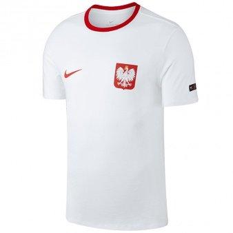 Nike, Koszulka męska, Poland Pol M NK Tee Crest, biała, rozmiar M-Nike