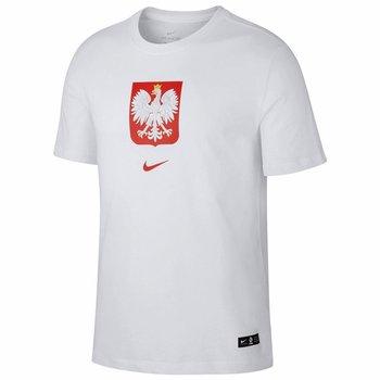 Nike, Koszulka męska, Poland Tee Evergreen Crest CU9191 100, biały, rozmiar XL-Nike
