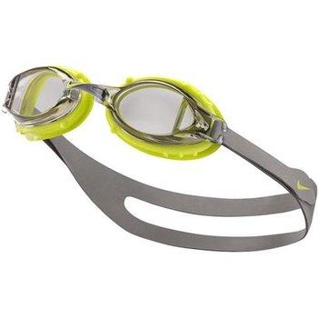 Nike, Okulary pływackie, Chrom Youth, szaro-zielone, 8-14 lat -Nike