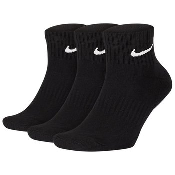 Nike, Skarpety sportowe, 3-pack, Everyday Cushion Ankle SX7667 010, czarny, rozmiar 30-34-Nike