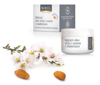Nikel, balsam pod oczy i wokół ust z olejkiem migdałowym głęboko nawilżający, 15 ml-Nikel