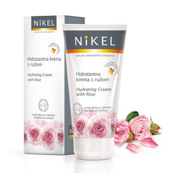 Nikel, nawilżający krem do twarzy z różą, 50 ml-Nikel