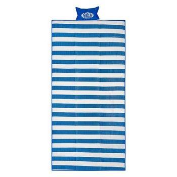 Nils Camp, Mata plażowa, NC1300, niebieski, 180x90 cm-Nils Camp