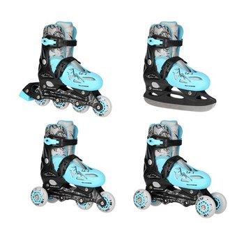 NILS Extreme, Łyżworolki z wymienną płozą hokejową  NH0320A, 4w1, niebieski, rozmiar 31/34-NILS Extreme