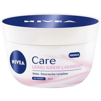 Nivea, Care, lekki krem łagodzący do twarzy, 50 ml-Nivea