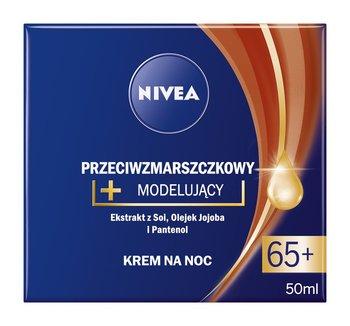Nivea, przeciwzmarszczkowy krem modelujący 65+ na noc, 50 ml-Nivea