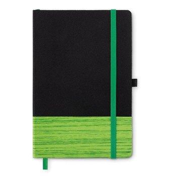 Notatnik w linie, A5, czarno-zielony-UPOMINKARNIA