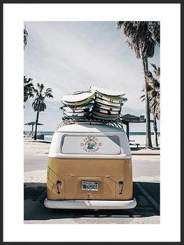 Nowoczesny Obraz Plakat A3 30x42 cm Lato Podróżniczy Kamper / Fabryka Plakatu -Fabryka plakatu