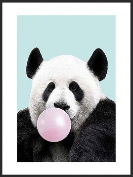 Nowoczesny Obraz Plakat A4 21x30 cm Zabawna Panda / Fabryka Plakatu -Fabryka plakatu
