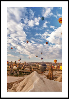 Nowoczesny Obraz Plakat B2 50x70 cm Kapadocja Balony / Fabryka Plakatu -Fabryka plakatu