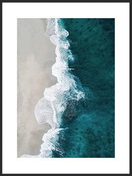 Nowoczesny Obraz Plakat B2 50x70 cm Morze z Lotu Ptaka / Fabryka Plakatu -Fabryka plakatu