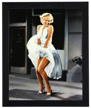 Nowoczesny obraz w czarnej ramie w rozmiarze 40x50 cm -  Marilyn Monroe 2-Postergaleria