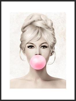 Nowoczesny plakat FABRYKA PLAKATU Brigitte Bardot A4, 21x30 cm-Fabryka plakatu