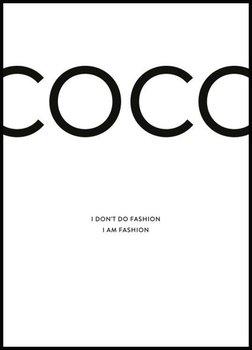 Nowoczesny plakat FABRYKA PLAKATU Coco Chanel A3, 30x42 cm-Fabryka plakatu