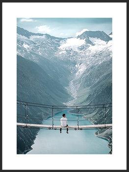 Nowoczesny plakat FABRYKA PLAKATU Góry Alpy A3, 30x42 cm-Fabryka plakatu