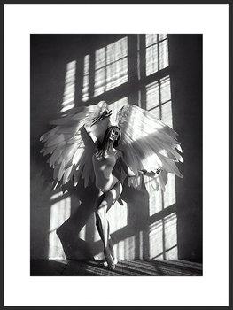 Nowoczesny plakat FABRYKA PLAKATU Kobieta Anioł B2, 50x70 cm-Fabryka plakatu