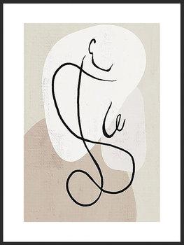 Nowoczesny plakat FABRYKA PLAKATU Linearna Ona A3, 30x42 cm-Fabryka plakatu