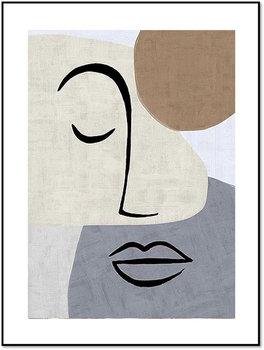 Nowoczesny plakat FABRYKA PLAKATU Linearna Ona B2, 50x70 cm-Fabryka plakatu