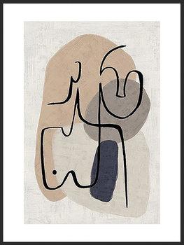 Nowoczesny plakat FABRYKA PLAKATU Linearni Oni B2, 50x70 cm-Fabryka plakatu