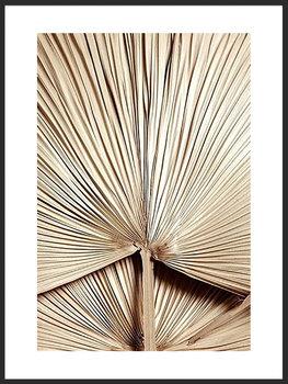 Nowoczesny plakat FABRYKA PLAKATU Liść Złota Palma A4, 21x30 cm-Fabryka plakatu