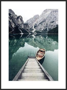 Nowoczesny plakat FABRYKA PLAKATU Łódka nad Górkim Jeziorem B2, 50x70 cm-Fabryka plakatu