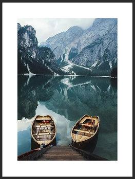 Nowoczesny plakat FABRYKA PLAKATU Łódki nad Górkim Jeziorem B2, 50x70 cm-Fabryka plakatu