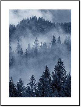 Nowoczesny plakat FABRYKA PLAKATU Mroczny Las we Mgle A4, 21x30 cm-Fabryka plakatu