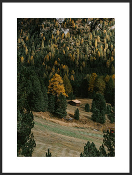 Nowoczesny plakat FABRYKA PLAKATU Samotna Chata w Lesie A4, 21x30 cm-Fabryka plakatu