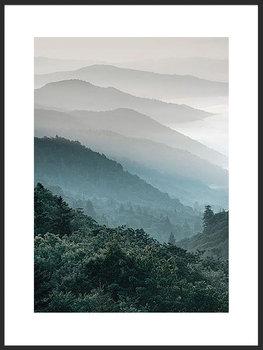 Nowoczesny plakat FABRYKA PLAKATU Widok na Góry A4, 21x30 cm-Fabryka plakatu