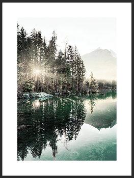 Nowoczesny plakat FABRYKA PLAKATU Wschód nad Jeziorem B2, 50x70 cm-Fabryka plakatu