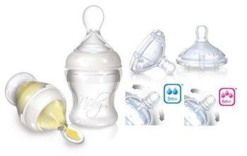 Nuby, Zestaw do karmienia Infafeeder + smoczki na butelkę-Nuby