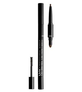 NYX, 3-in-1 Brow Pencil, zestaw do stylizacji brwi 31B08 Ash Brown, 1 szt.-NYX