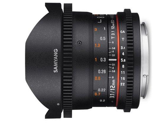 Obiektyw SAMYANG, 12 mm, T3.1 VDSLR / Nikon